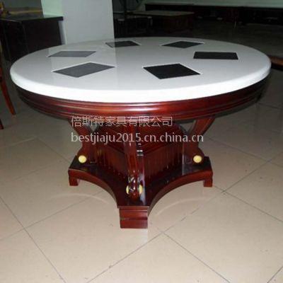 定做 中式古典 实木火锅餐桌 重庆火锅餐桌 倍斯特家具定做批发