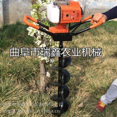 树坑钻孔机 四轮拖拉机带挖坑机打洞机 瑞鑫供应植树打坑机