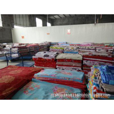 供应涤磨毛布 印花残布 处理品  降等布价格低