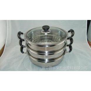潮安彩塘三层烹饪多蒸格不锈钢蒸锅28cm
