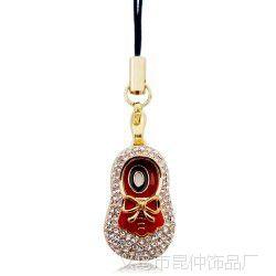 蝴蝶结宝宝的娃娃鞋子 韩国手机挂件(金+大红+白)2696-6-54