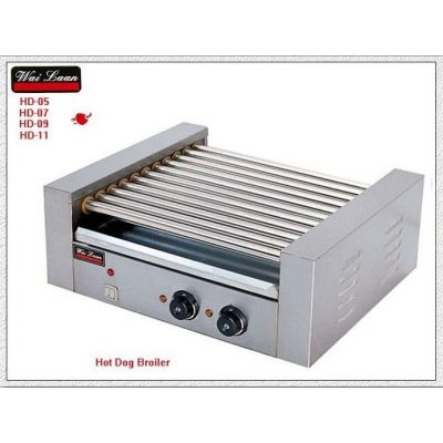 供应唯利安 HD-05 五棍滚筒式烤香肠机烤热狗机烤火腿肠机