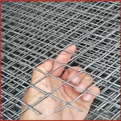 护栏菱形网 喷漆菱形网 桥梁钢板网规格