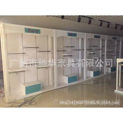 广州免费设计儿童装货架 木质烤漆母婴店展示柜 可来图定做