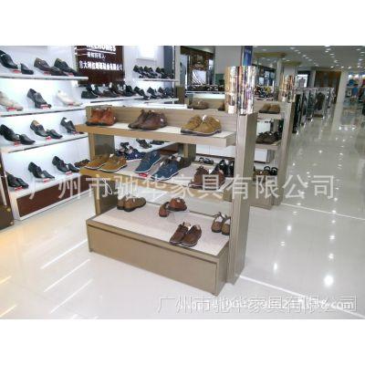 【定做】鞋店货柜 男女鞋中岛展示架 木质烤漆展示柜 低价格
