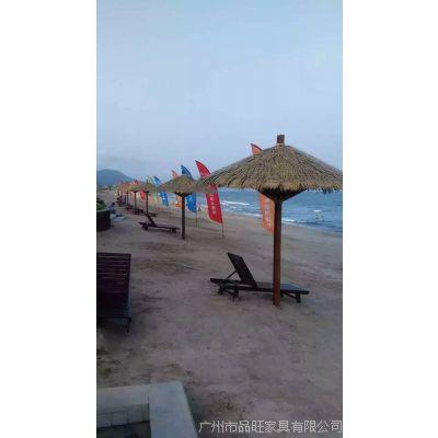 海景洋房茅草伞 实木茅草伞,户外茅草伞