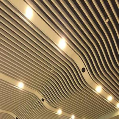 供应影剧院吸音冲孔弧形铝方通吊顶-艺术造型铝板焊接铝方通--欧百得