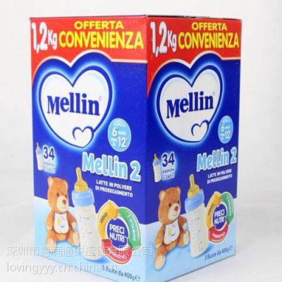 意大利Mellin美林奶粉香港包税进口清关物流,中港进口物流一条龙服务
