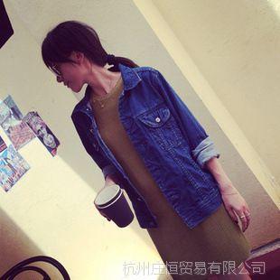 【YESWOMEN】小宜定制 春款女装新款 蓝色宽松牛仔长袖外套
