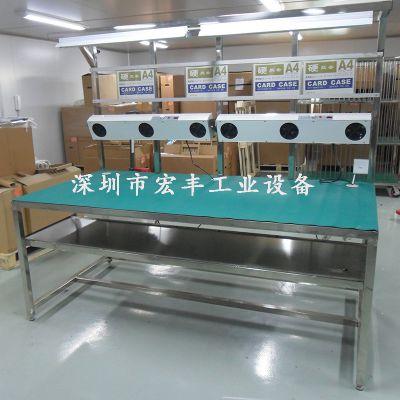 宏丰设备直销2016新款不锈钢工作台 洁净工作台深圳地区免费送货上门
