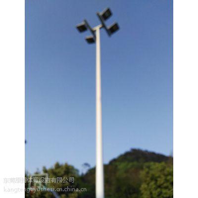 广州篮球场灯杆安装 6米8米篮球场灯杆现货出售 锥形灯柱灯具厂家康腾体育