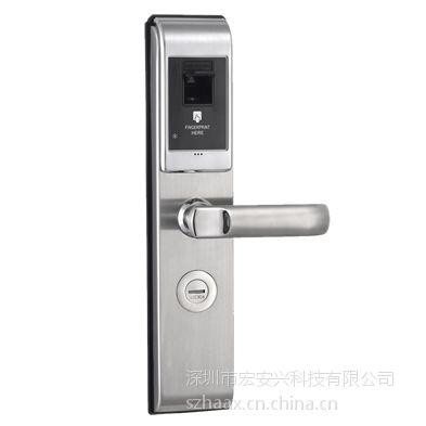 供应东北地区宏安兴智能时尚指纹锁 门锁图片,家用指纹锁,小区密码锁,公寓指纹锁,高档小区
