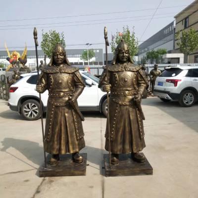 玻璃钢古代射箭人物 园林景观仿铜将军雕塑 奥运雕塑中射箭的秦国士兵铜雕