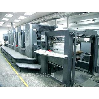 提供日本二手印刷机货源信息进口报关中检