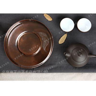 宸艺华专业生产紫铜一叶壶承