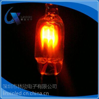 求购3MM氖管 3*10NE-2橘红色 氖灯 电热毯氖灯