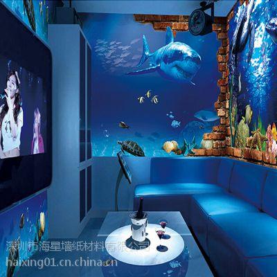 量贩式KTV包房壁画 KTV主题墙纸定制 电视背景墙壁画