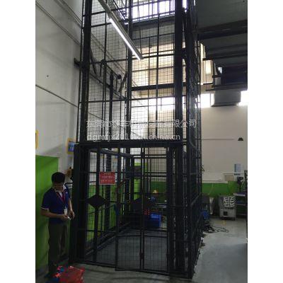 货物升降机 松山湖导轨式升降货梯安装 立柱式液压升降机