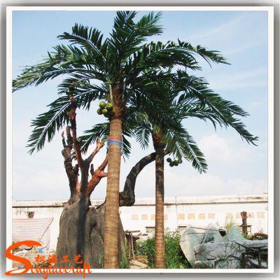 厂家专业定制大型椰子树 大型热带仿真椰林 户外仿真椰子树假椰树