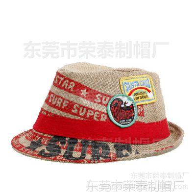 时尚新款夏天百搭遮阳男士爵士草帽 韩版印花旅游度假巴拿马草帽