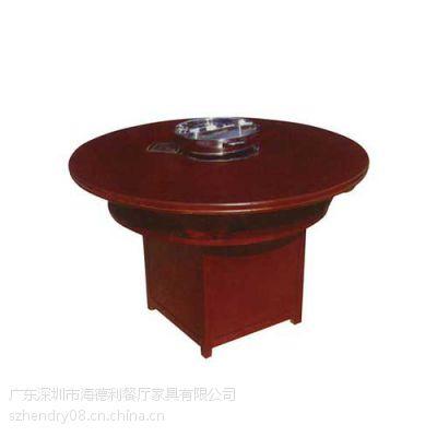 苏洲火锅桌批发 实惠型实木火锅桌椅 复古风格餐厅火锅桌 定做