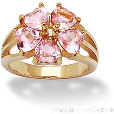 欧式风格 花卉造型戒指 铜饰品批发厂家