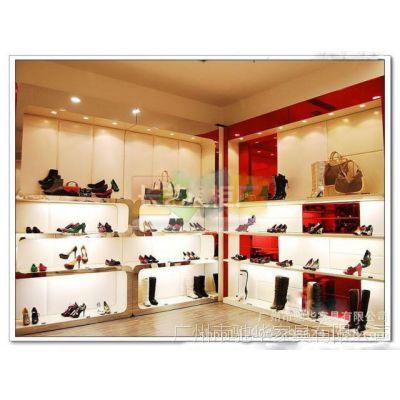厂家定制展示柜  女鞋店展示架  店铺木质烤漆鞋柜货柜 低价格