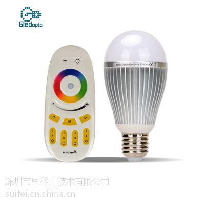 9W智能球泡WIFI 2.4G 分组分区域控制七彩循环E27E26大螺口灯头LED节能灯