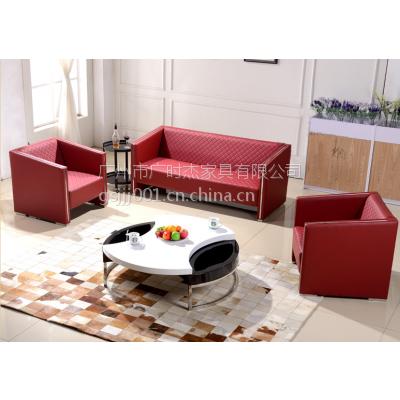 供应新款真皮办公沙发组合现代简约办公室沙发接待会客沙发批发