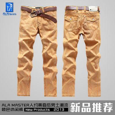 供应ALA MASTER134003时尚水洗韩版宽松潮男休闲裤