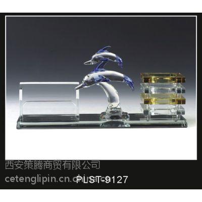 供应西安水晶摆件 水晶三件套 水晶工艺礼品定做