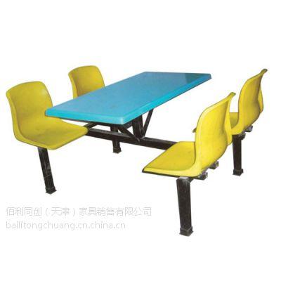 天津餐桌椅生产厂家价格便宜 个性定制连体餐桌椅款式 天津河西百利同创家具