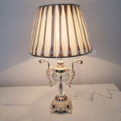 北京精美欧式水晶台灯锌合金装饰台灯卧室床头灯豪华客厅台灯定制销售