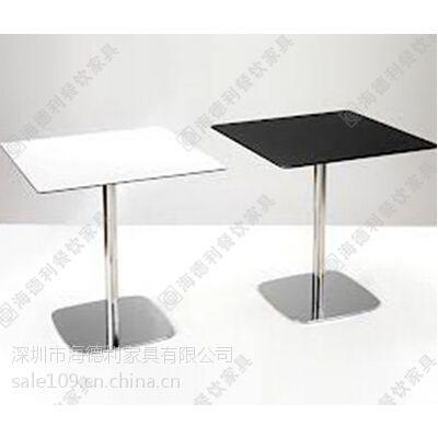 多用型钢化玻璃咖啡桌 时尚咖啡厅铁艺脚餐桌 2人位咖啡桌厂价热卖