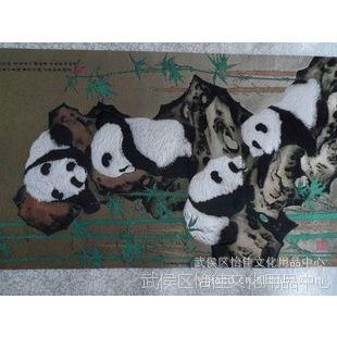 蜀锦蜀绣 步步高升熊猫蜀锦卷轴 成都特色礼品 商务礼品 批发