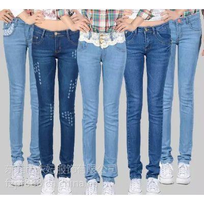 5元牛仔裤厂家低价大量批发韩版铅笔牛仔裤低价大量批发保证质量