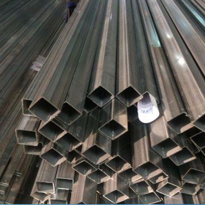 美标304不锈钢方管,拉丝玫瑰金,工业焊管