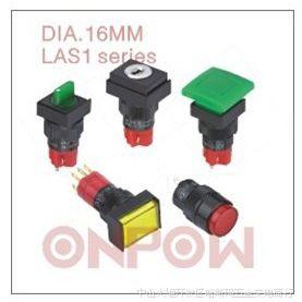 ONPOW中国红波LAS1系列按钮开关