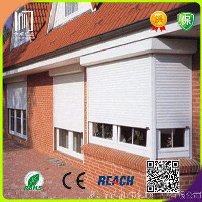 厂家销售37型小孔铝合金卷帘窗  电动铝型材卷帘窗  防盗卷帘窗