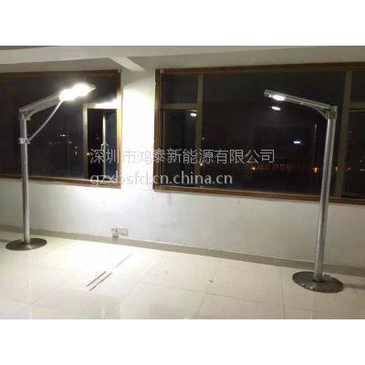 湖衡东县城乡镇村安装HT-D30W太阳能路灯 鸿泰定制6-9米太阳能路灯为出行点亮生活