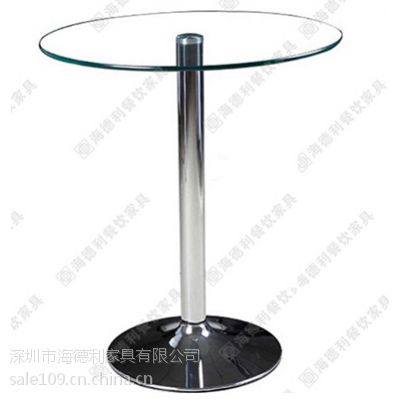 专业生产 现代简约咖啡桌 多人位玻璃咖啡桌 地中海风圆形休闲桌