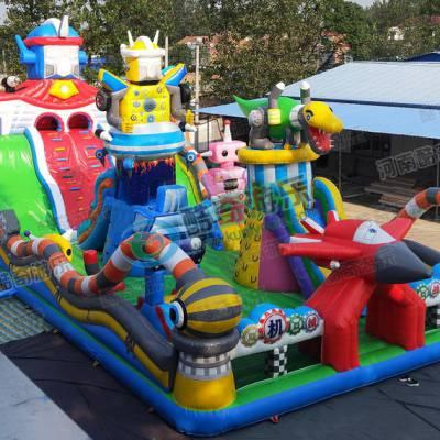 夏天广场上挣钱的蹦床玩具 充气蹦床能挣钱吗