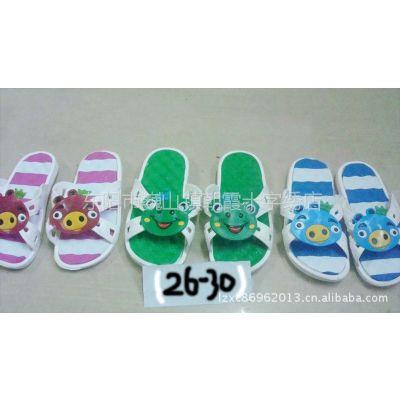 供应新款儿童可爱棒棒糖简约包跟 居家棉拖鞋男女宝宝冬防滑保暖棉鞋