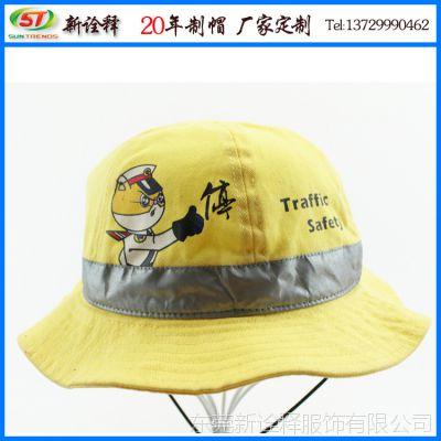 帽厂定制卡通太阳童帽 夏季双面带速干儿童渔夫帽 户外防晒盆帽