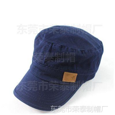 东莞工厂定做平顶帽军帽全棉 鸭舌军帽 帽子工厂定做帽子韩版新款