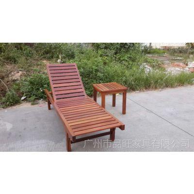 供应湖北恒大集团菠萝格沙滩椅/定做沙滩椅