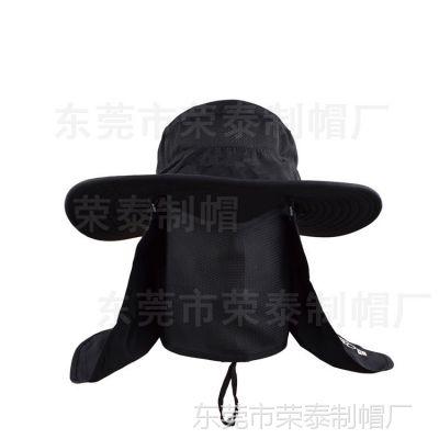 户外超轻防晒帽子360度 钓鱼帽防风沙防蚊虫渔夫帽遮脸帽子可拆卸