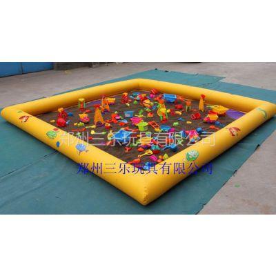 供应广州充气沙滩池价格,儿童玩具充气沙池多少钱【图片】
