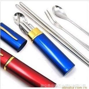 不锈钢餐具 不锈钢筷子便携式餐具