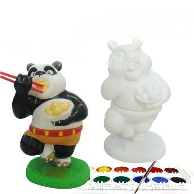 儿童DIY玩具活动用品石膏娃娃石膏彩绘 石膏模具白胚涂色娃娃批发